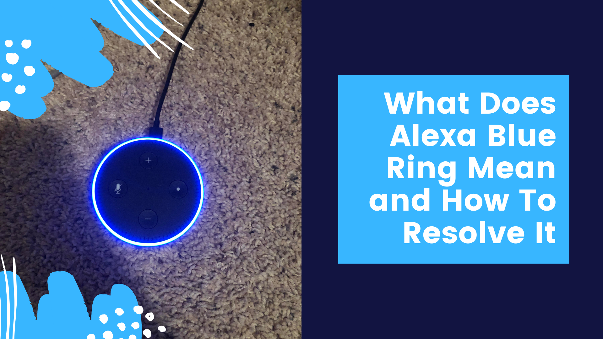 How to Fix Alexa Echo Apinning Blue Ring - Echo Helpline